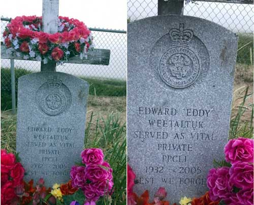 Inuit Veteran Eddy Weetaltuk commemorated thanks to the Last Post Funds