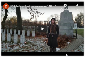 Bells of Peace November 11, 2018: 100 years since the end of the First World War