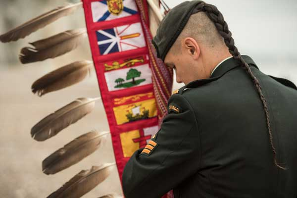 Premiering our new banner for the Indigenous Veterans Initiative