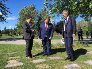 Polish Secretary of State visits the Last Post Fund National Field of Honour