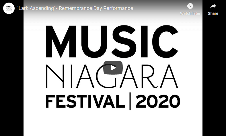 Music Niagara Remembrance Day Tribute to Indigenous Veterans